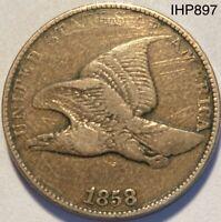1858 Flying Eagle Cent Large Letters