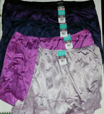 5 Vanity Fair Brief Panty Set 13001 Nylon Lace Trim Black Purple Blue Pink 10 3X