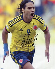 Radamel Falcao-COLOMBIA-SIGNED AUTOGRAFO RISTAMPA
