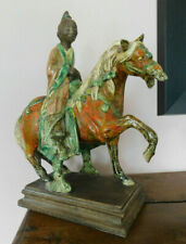 Chine céramique vernissée style Tang chinese porcelain sancaï glazed horse