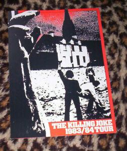 KILLING JOKE ~ ORIG 1983 A3 TOUR PROMO POSTER/LEAFLET. EX+.