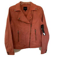 NWT Liverpool Women's Moto Jacket Size Small Coral Fins