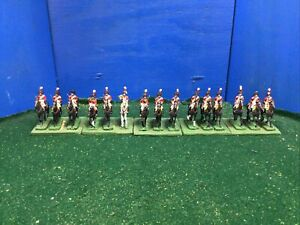 British Napoleonic Heavy Dragoons x15 Painted Toy Soldiers 25mm Lot 275