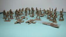 Airfix Afrika Korps Figures 1/32 Scale, 29 figs, many damaged + Tatty Box