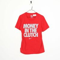 NIKE Big Logo T Shirt Tee Red | Small S