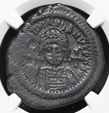 Justinian I, AD 527-565. Æ Half Follis, Large K, NGC Ch F