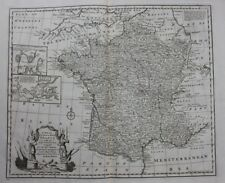 Antique atlas map FRANCE, 'France with its Acquisitions', Bowen, published 1747