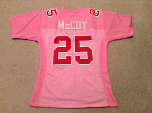 UNSIGNED CUSTOM Sewn Stitched LeSean McCoy Pink Jersey - Medium