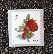 2017USA #5201 3c Strawberries - Coil Single  Mint  NH    strawberry fruit