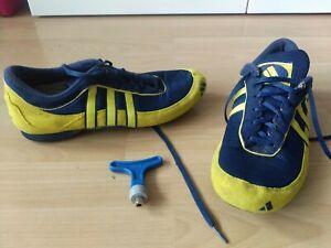 Adidas Spikes Laufschuhe Bahn mit Schlüssel Gr. 44 2/3