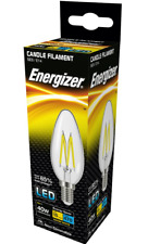 2 x Energizer 4w (=40w) LED Clear Filament Candle, Extra Warm White (2700k) SES