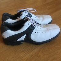 79009d1b2c2706 FJ Footjoy Contour Series 54175 Black White Mens 12 M Golf Shoes Cleats