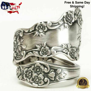 Fashion Flower 925 Silver Rings for Women Party Jewelry Gift Rings Size 6-10