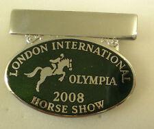 LONDON INTERNATIONAL HORSE SHOW OLYMPIA 2008 Enamel Lapel Pin Badge EQUESTRIAN