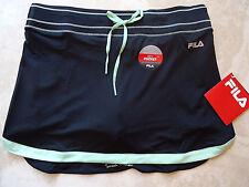 NWT Small Fila Black Lime Green Tennis Golf Running Sports Skort w/ Key Pocket