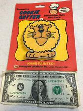 vintage Lion Monogram Products Handpainted Plastic Decorative Cookie Cutter NOS