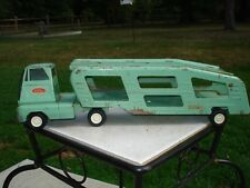 Vintage Green Tonka Truck Car Transport Carrier collectable