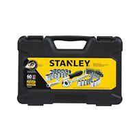 "STANLEY STMT82699 60-PIECE MECHANICS TOOL SET 1/4 & 3/8"" Drive SAE & Metric"