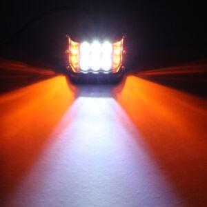 LED Work Light Bar Side Shooter Combo Beam White+Yellow Strobe Driving Offroad