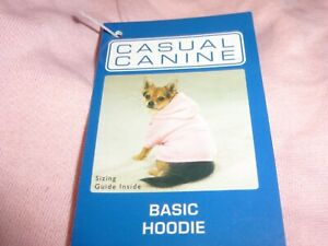 DOG/Pet  BASIC HOODIE SWEATSHIRT  by CASUAL CANINE size XSmall  NWT pink