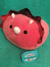 WoW Tristan The Red Triceratops Dinosaur 8 inch Stackable Squishmallow Plush Toy