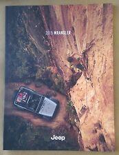 2015 Jeep Wrangler 32-page Original Brochure - Rubicon Hard Rock Sahara Sport