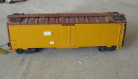 Vintage HO Scale Yellow and Rust Boxcar