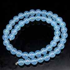 """Natural 6mm Brazil Faceted Aquamarine Gems Round Loose Beads 15 """"AAA"""