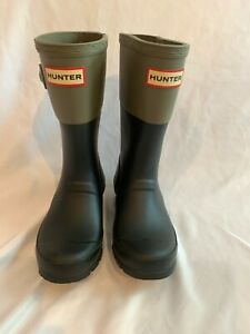Hunter Kids Boys Girls Contrast Rainboots Size 12B /1G Black Excellent Condition
