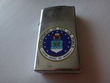 Vintage Year 1975 Zippo Slim Lighter With US DEPARTMENT OF THE AIR FORCE Logo