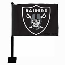 NFL Oakland Raiders Car Flag, Black Pole