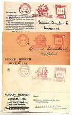 3 X Postcard Rudolph Heinrich Coal Handlung Zwickau 1940 Freistempel Advertising