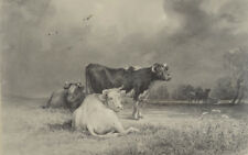 "Otto Arnz (1823-aft. 1860) ""On the pasture"", drawing, early 1850"