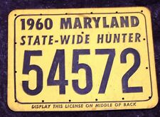 MARYLAND STATE WIDE HUNTING LICENSE 1960