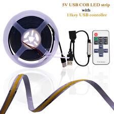 DC5V USB COB LED Flexible strip light For TV Background with 11key  controller