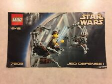 7203 Star Wars Jedi Defense I Lego Instruction Manual Only
