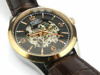 Rotary GS03715/04 Mens Automatic Swiss Skeleton Dial Watch - 100m
