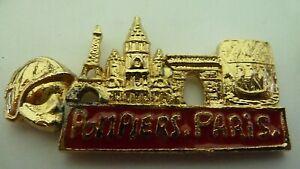 PIN'S SAPEURS POMPIERS DE PARIS     /  TOUR  EIFFEL    /  EN RELIEF   /   RARE