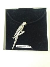 Parrot pp-b08 peltro Ciondolo su una corda nera collana
