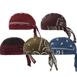 5pc Durag Bandana Sports Du Rag Unisex Scarf Head Rap Tie Down Band Bike Cap Hat