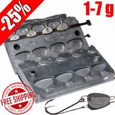 Fishing Sinker Aluminum Mold -25% DIY Do It Fishing Lead Molds Fish Head 1-7 g