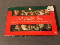 Kurt Adler Santa's World String Teddy Bear Christmas Blow Mold Mini 10 Lights!