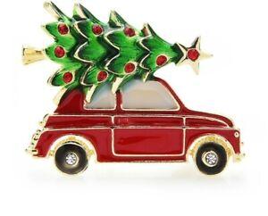 Christmas Tree and Car Brooch