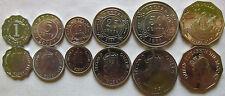 Belize set of 6 coins 1991-2007 (1+5+10+25+50 cents + 1 dollar) UNC
