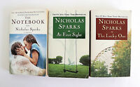 Nicholas Sparks 3 Book Lot Romance Notebook The Lucky One  At First Sight