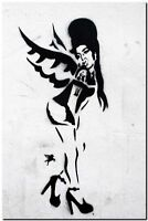 "BANKSY STREET ART CANVAS PRINT Amy winehouse 8""X 10"" stencil poster"