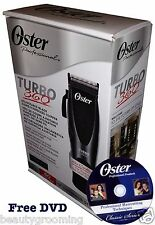 OSTER Cord / Cordless Turbo 360 Hair Clipper 76105-010 Adjustable Blade FREE DVD