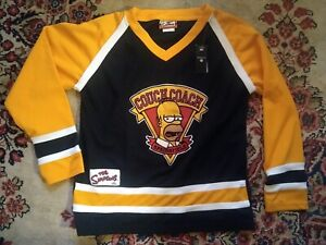 ORIGINAL The Simpsons COUCH COACH Hockey Jersey Homer kids LARGE L VINTAGE EX!!!