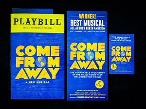 COME FROM AWAY Broadway Musical Playbill & Flyers. Becky Gulsvig, Dec 2019