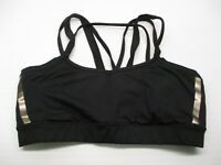 CHAMPION C9 Women's Size M Strappy Running Black V-Neck Sports Bra